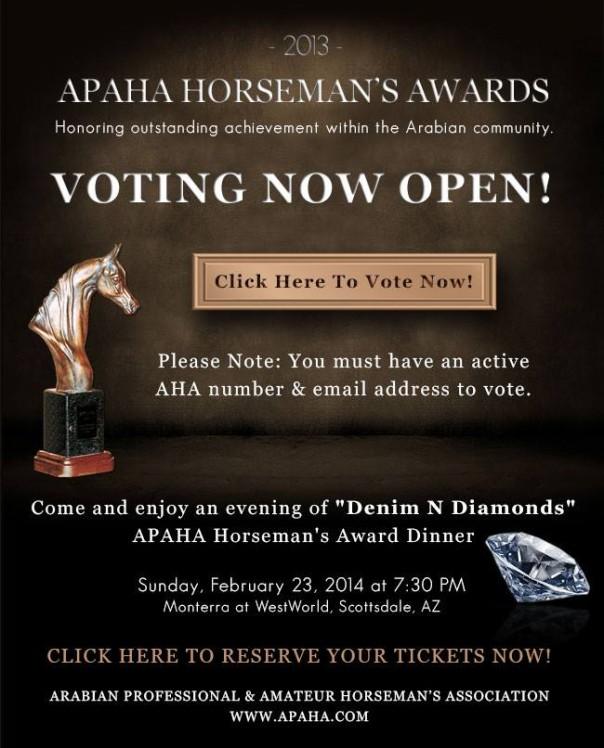 APAHA horsemanship awards